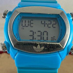 Adidas Blue and Silver Sports Watch